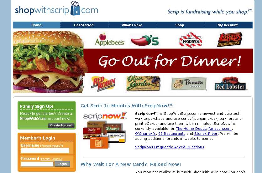 The online service shopwithscrip